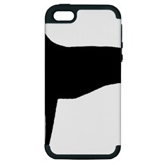 Greyhound Silhouette Apple iPhone 5 Hardshell Case (PC+Silicone)
