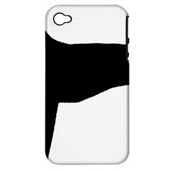 Greyhound Silhouette Apple iPhone 4/4S Hardshell Case (PC+Silicone)