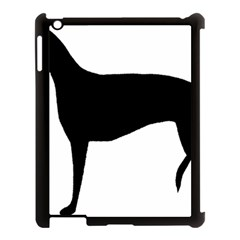 Greyhound Silhouette Apple iPad 3/4 Case (Black)