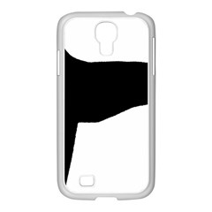 Greyhound Silhouette Samsung GALAXY S4 I9500/ I9505 Case (White)