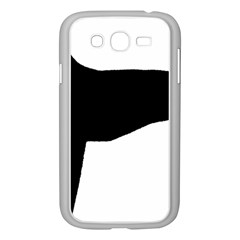 Greyhound Silhouette Samsung Galaxy Grand DUOS I9082 Case (White)