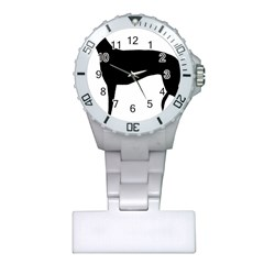 Greyhound Silhouette Plastic Nurses Watch