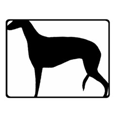 Greyhound Silhouette Double Sided Fleece Blanket (Small)
