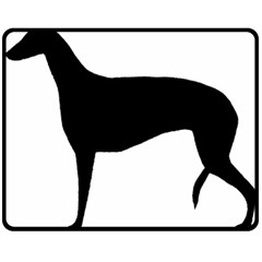 Greyhound Silhouette Double Sided Fleece Blanket (Medium)