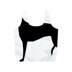 Greyhound Silhouette Full Print Recycle Bags (S)