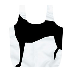 Greyhound Silhouette Full Print Recycle Bags (L)