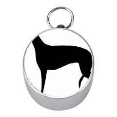 Greyhound Silhouette Mini Silver Compasses