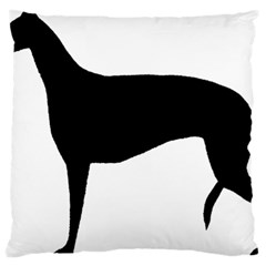 Greyhound Silhouette Large Flano Cushion Case (two Sides)