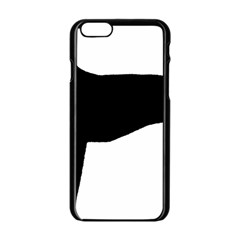 Greyhound Silhouette Apple iPhone 6/6S Black Enamel Case