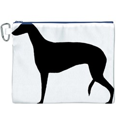 Greyhound Silhouette Canvas Cosmetic Bag (XXXL)