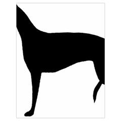 Greyhound Silhouette Drawstring Bag (Large)