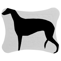 Greyhound Silhouette Jigsaw Puzzle Photo Stand (Bow)