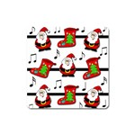 Christmas song Square Magnet Front