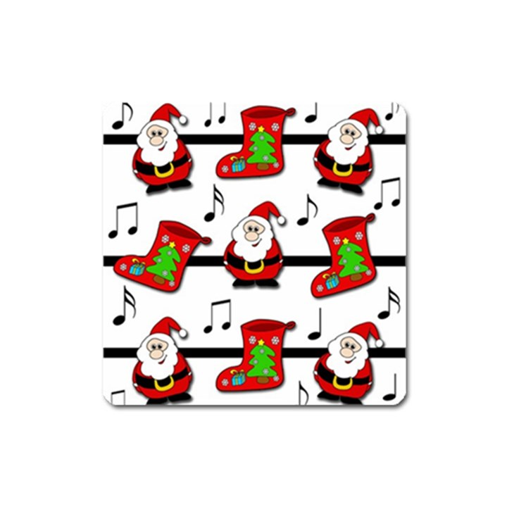 Christmas song Square Magnet