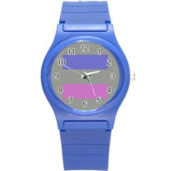 Androgynous Round Plastic Sport Watch (S)