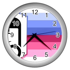 Adult Baby Diaper Lover Wall Clocks (silver)