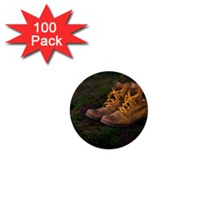 Hiking Boots 1  Mini Buttons (100 Pack)