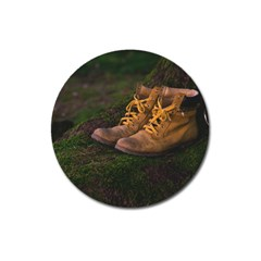 Hiking Boots Magnet 3  (Round)