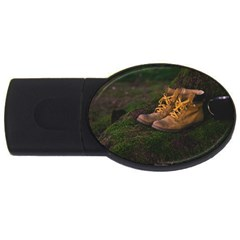 Hiking Boots USB Flash Drive Oval (2 GB)