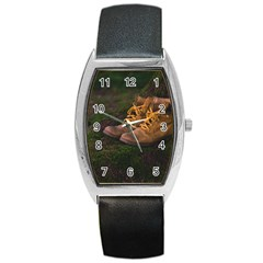 Hiking Boots Barrel Style Metal Watch