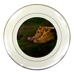 Hiking Boots Porcelain Plates