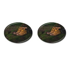 Hiking Boots Cufflinks (Oval)