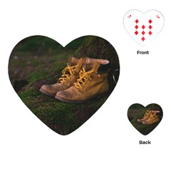 Hiking Boots Playing Cards (Heart)