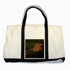 Hiking Boots Two Tone Tote Bag