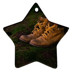 Hiking Boots Star Ornament (Two Sides)