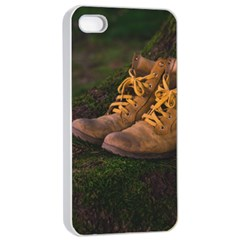 Hiking Boots Apple Iphone 4/4s Seamless Case (white)