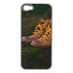 Hiking Boots Apple iPhone 5 Case (Silver)