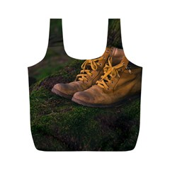 Hiking Boots Full Print Recycle Bags (M)