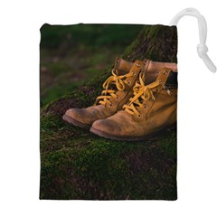 Hiking Boots Drawstring Pouches (XXL)