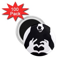 Love Bear Silhouette 1.75  Magnets (100 pack)