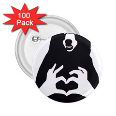 Love Bear Silhouette 2.25  Buttons (100 pack)