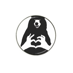 Love Bear Silhouette Hat Clip Ball Marker (4 pack)