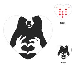 Love Bear Silhouette Playing Cards (Heart)