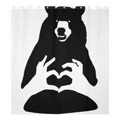 Love Bear Silhouette Shower Curtain 66  X 72  (large)