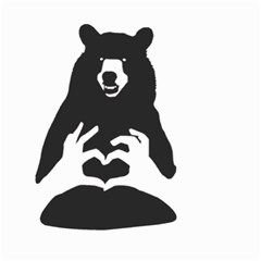 Love Bear Silhouette Small Garden Flag (Two Sides)