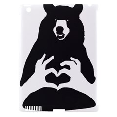 Love Bear Silhouette Apple iPad 3/4 Hardshell Case (Compatible with Smart Cover)