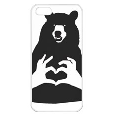 Love Bear Silhouette Apple iPhone 5 Seamless Case (White)