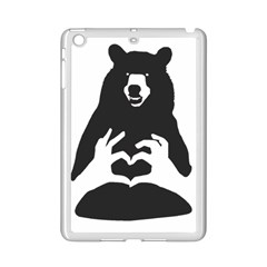Love Bear Silhouette iPad Mini 2 Enamel Coated Cases