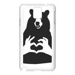 Love Bear Silhouette Samsung Galaxy Note 3 N9005 Case (White)