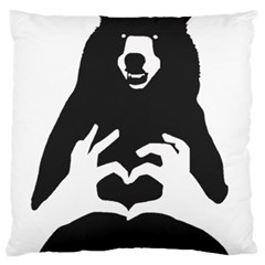 Love Bear Silhouette Standard Flano Cushion Case (Two Sides)