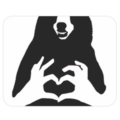 Love Bear Silhouette Double Sided Flano Blanket (Medium)