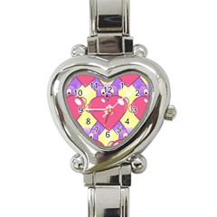 Cartoon Bear Bg Heart Italian Charm Watch