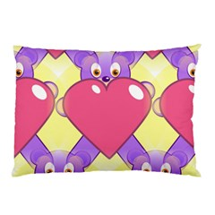 Cartoon Bear Bg Pillow Case (Two Sides)