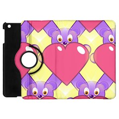 Cartoon Bear Bg Apple iPad Mini Flip 360 Case
