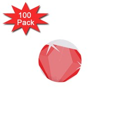 Ruby 1  Mini Buttons (100 pack)