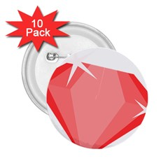 Ruby 2.25  Buttons (10 pack)